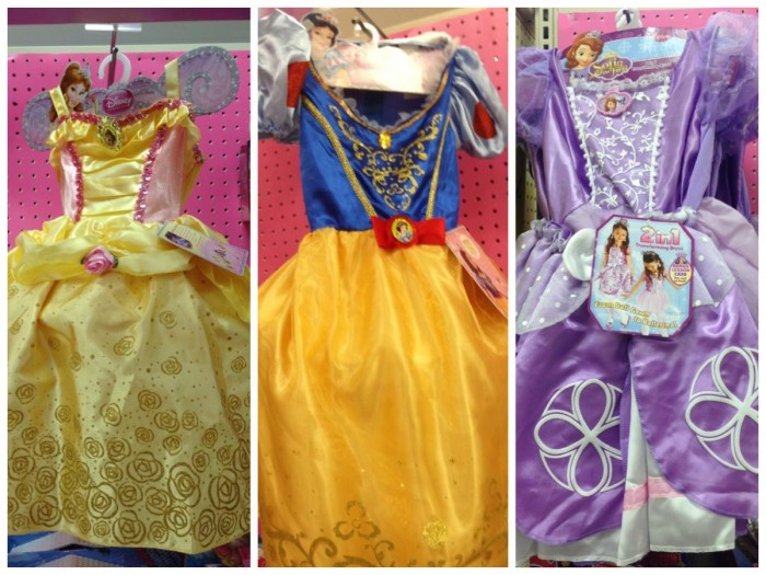 Target Disney princess dresses, fall 2014. Belle, Snow White, Sofia the First.
