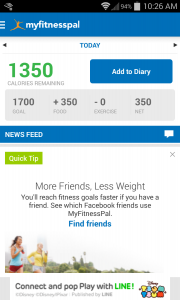 I even spotted an ad for Disney's Tsum Tsums in my calorie tracker!