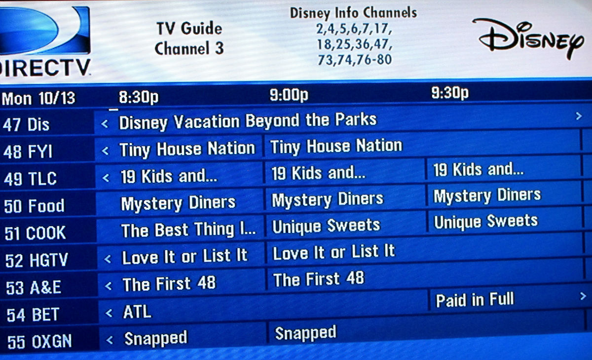 what's on tv? your disney world tv channel line up