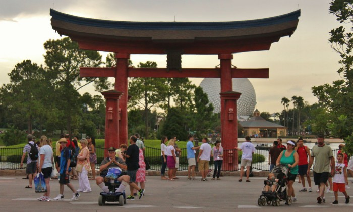 Enjoy the details in Epcot's World Showcase - Torii gate in Japan (Photo by Sarah Graffam)