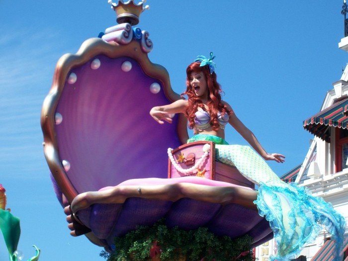 Little Mermaid in the Festival of Fantasy Parade