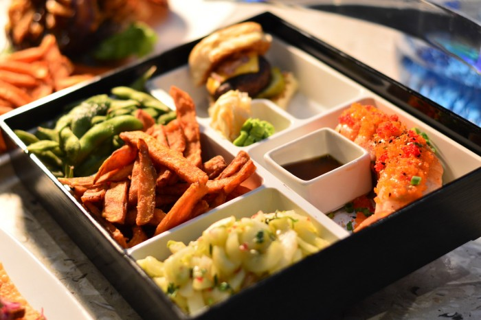 One of many non-traditional Bento boxes at Cowfish