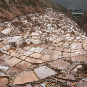 Learning about salt harvesting at the Salt Pans of Maras.