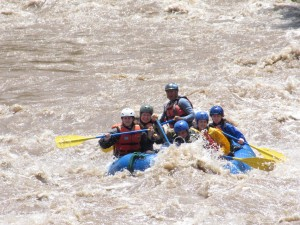 Rafting on the Urubamba River.