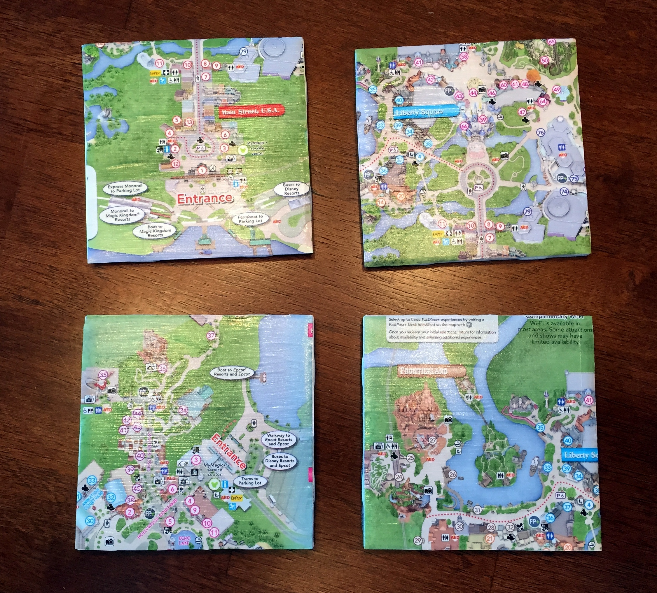 Diy Disney Park Map Coasters Touringplans Com Blog
