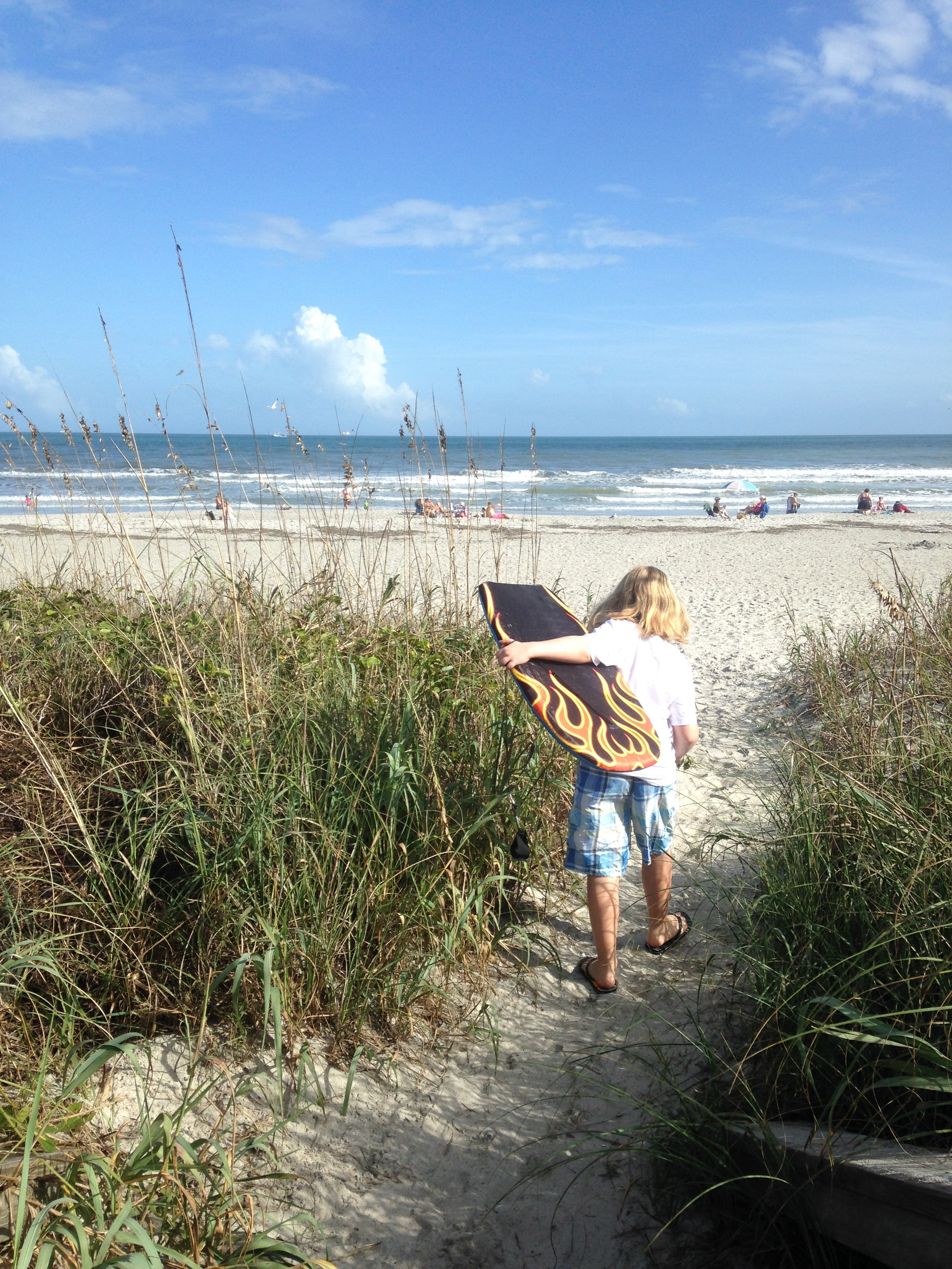 Heading Out For Some Light Boogie Boarding At Osceola Lane In Cocoa Beach