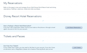 my disney experience reservations and tickets