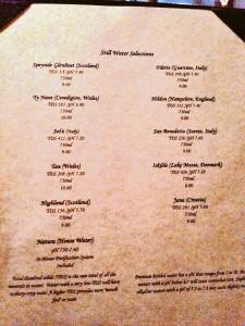 water menu1