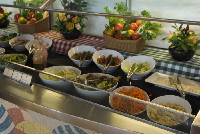 Salads are readily available on the DCL buffets. Photo - Laurel Stewart