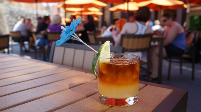 Dark and Tropical Stormy - with one of the cutest garnishes ever