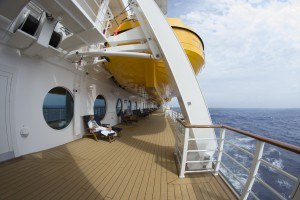 All the DCL ships have a walking track on Deck 4. Photo - Laurel Stewart