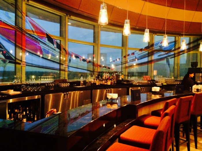 A review of disney world s top of the world lounge for Contemporary resort mural