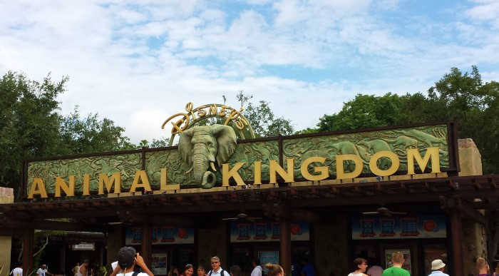 Head under this majestic sign to enter the wild Magic Kingdom.