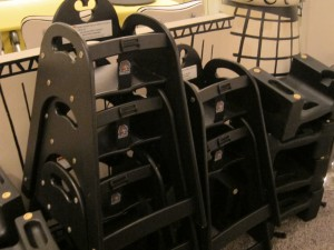 Extra high chairs and booster seats on the Disney Magic