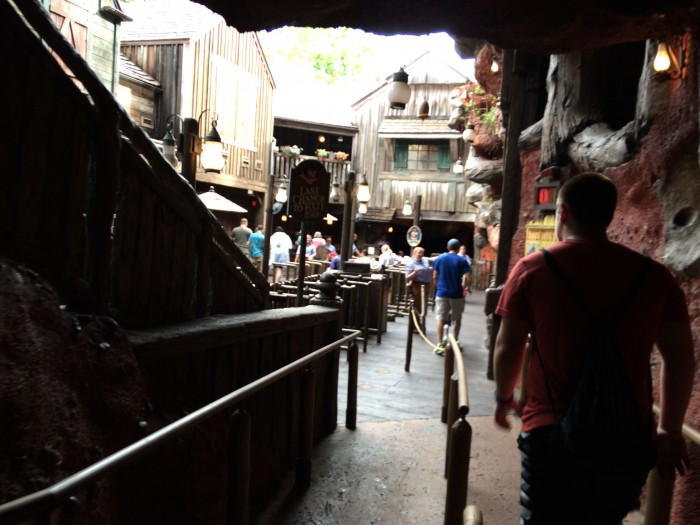 The queue was completely empty, we walked right on!