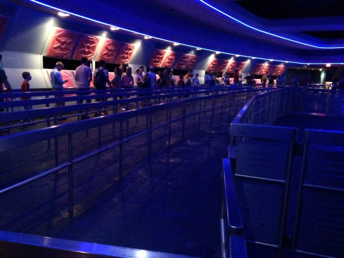 Empty FastPass+ queue for Space Mountain