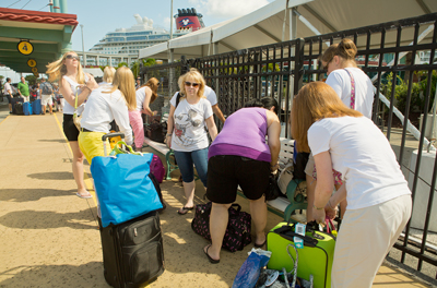 Dropping Off Luggage After Private Transfer, Port Canaveral