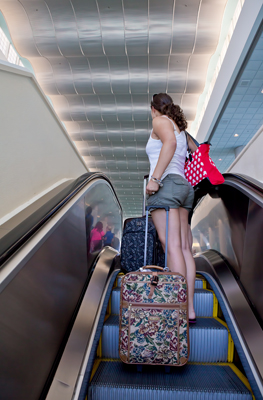 Escalator After Security - Port Canaveral