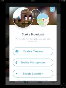 The Periscope app interface and setup are incredibly simple and user-friendly. (Photo by Julia Mascardo)