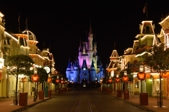 Magic Kingdom at night. Main Street U.S.A.'s best hour.