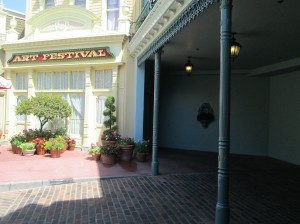 Even right off Main Street USA, there are quiet places that can be used for prayer. (Photo by Julia Mascardo)