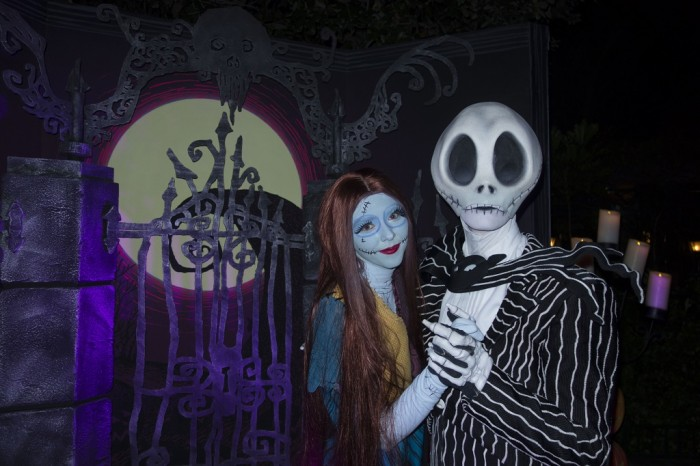 Jack and Sally have the longest line during Mickey's Halloween Party.
