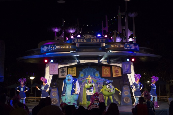 Get ready to boogy at the Monsters U Dance Party.