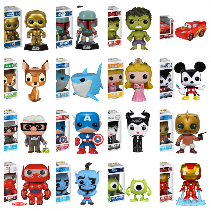 Sample Funko items.