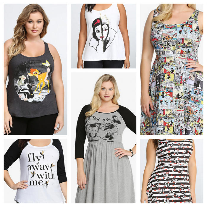 Sample Torrid items.
