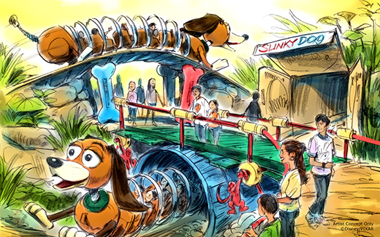 Slinky Dog Attraction Concept Art