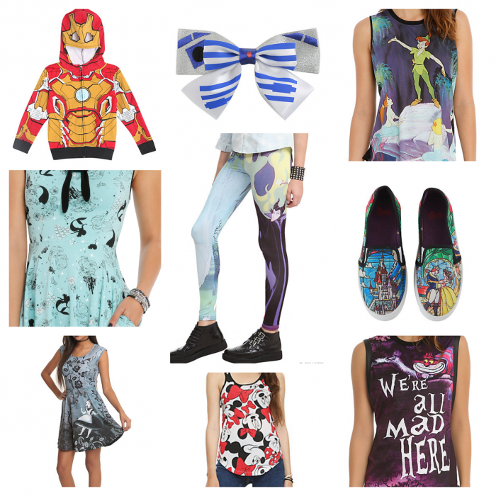 Sample Hot Topic items.