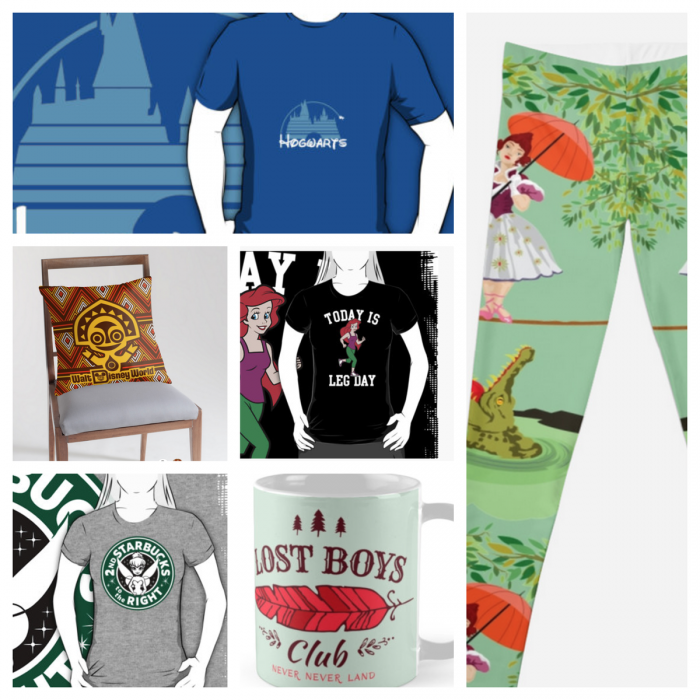 Sample Redbubble items.