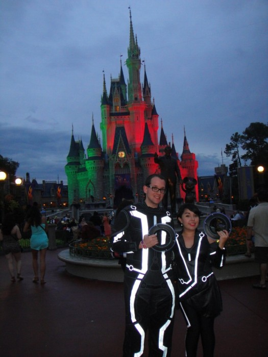 Be sure to get a picture with Cinderella Castle bathed in spooky colors.