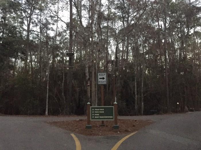 Narrow roads of Treehouse Villas