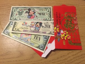 Happy Lunar New Year! We celebrated Disney-style with red envelopes filled with Disney dollars.