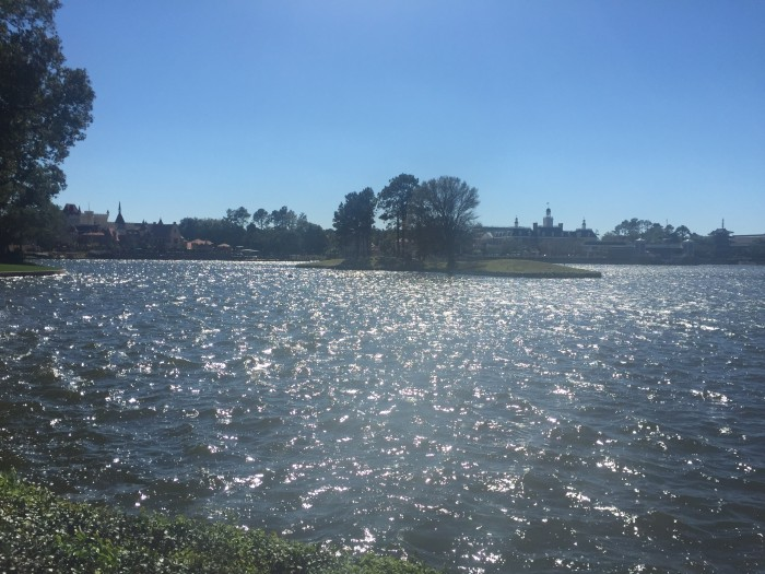 It was so windy, there were whitecap waves in World Showcase Lagoon.