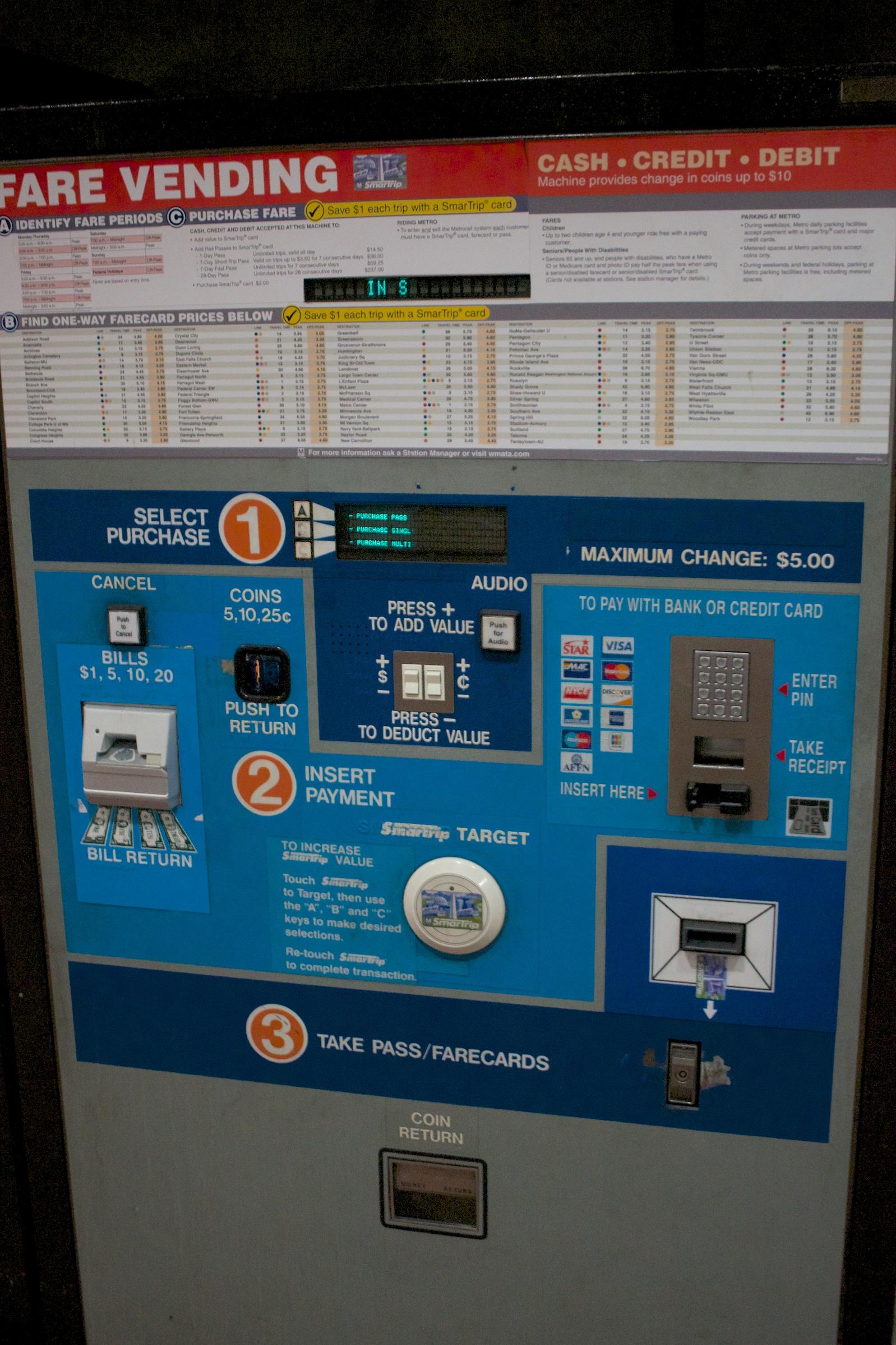 Washington D C How To Use The Metro Subway