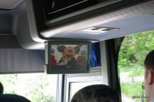 There's an introductory video shown on the bus.