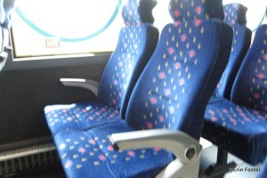 Typical ME bus seating.