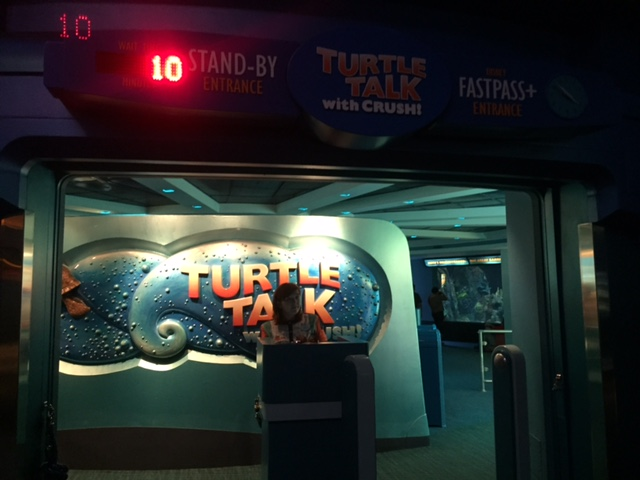 Characters from Finding Dory Now in Turtle Talk with Crush