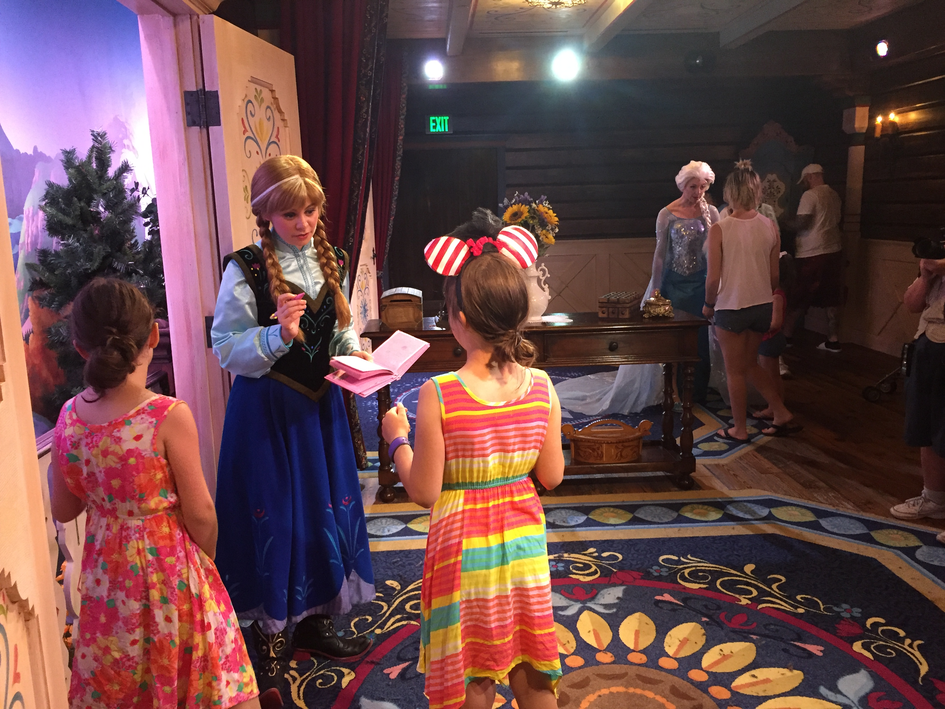 A closer look at disney worlds new anna and elsa meet and greet if youre a fan of anna elsa rapunzel tiana cinderella or sleeping beauty youre in luck on june 17 2016 a day full of premiers at walt disney kristyandbryce Choice Image