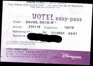 Disney Hotel easy-pass
