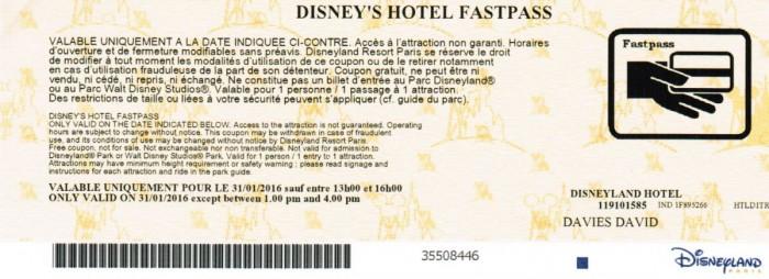 Disney's Hotel FASTPASS