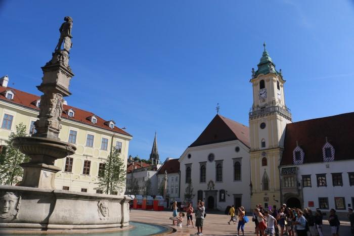 Touring Bratislava, Slovakia.