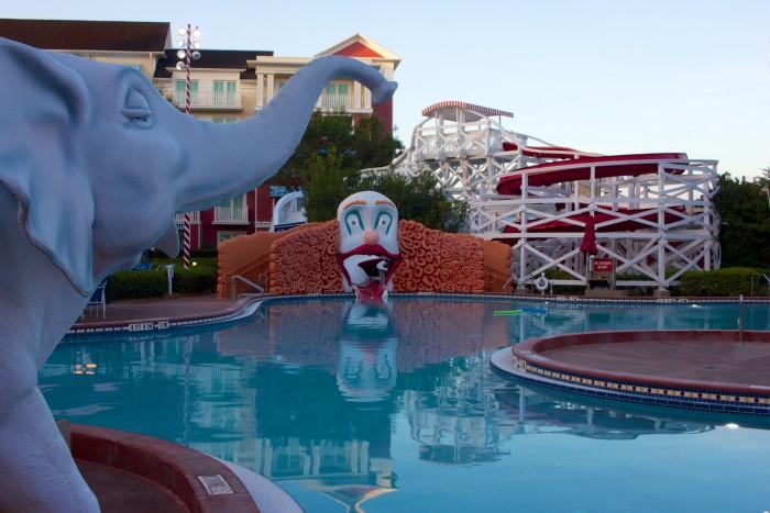 Clown slide at Disney's Boardwalk Inn