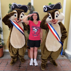 Meeting Chip and Dale at Epcot on July 4th
