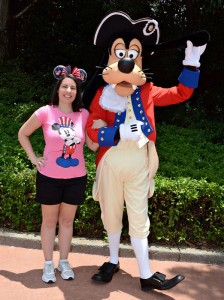 Meeting Goofy at Epcot on July 4th