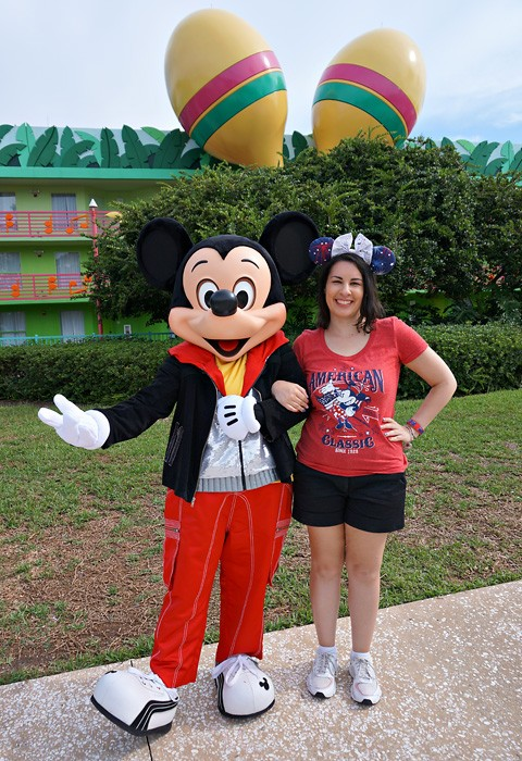 Meeting Mickey at All Star Music on July 4th