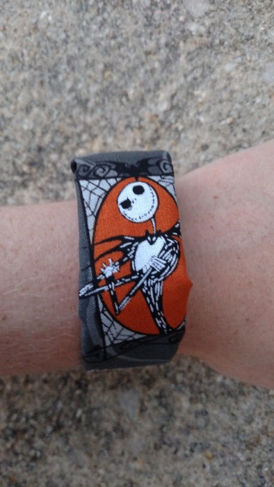 MagicBand covered in Nightmare Before Christmas fabric