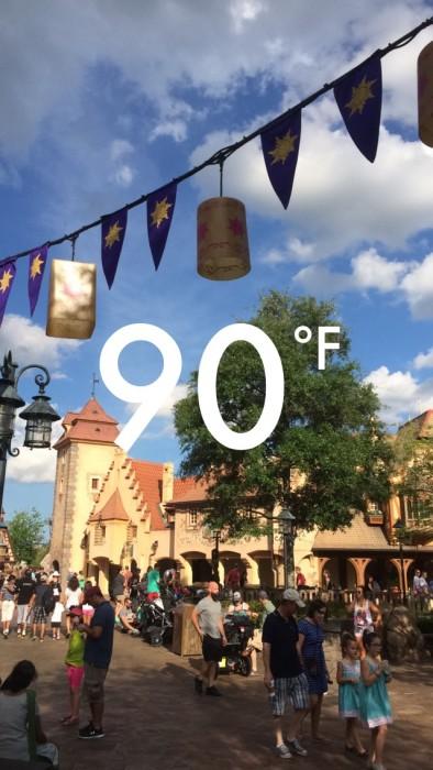 Snapchat Temperature Filter